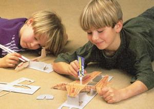 Начальное техническое моделирование из бумаги схемы